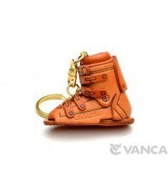 Ski Boot Leather Keychain(L) #handmade #keyfob #gift #unique #art #design #cute #sports #winter