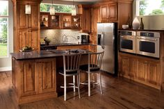 Kraftmaid rustic birch (kitchen cabinets) | The Lake House ...