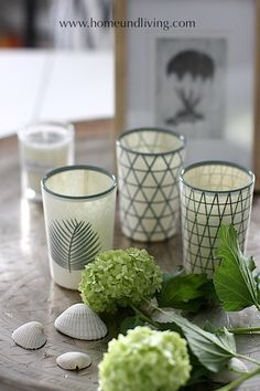 Tine K Home Lotus Glass Tea Light Holders - styling suggestion by Home & Living Blog; Get yours here: http://www.atnumber67.co.uk/en/o/lotus-glass-tealight-holder-set-of-3
