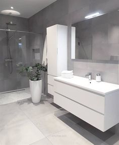 Grey bathrooms designs - 32 best bathroom designs images of beautiful bathroom remodel ideas to try 20 Grey Bathrooms Designs, Bathroom Designs Images, Modern Bathroom Design, Bathroom Interior Design, Ikea Interior, Contemporary Bathrooms, Toilet And Bathroom Design, Restroom Design, Interior Ideas