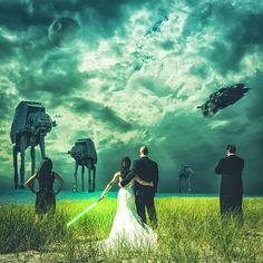 Star Wars Engagement Photo Idea