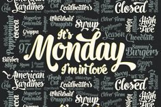 Monday Script Family by Fenotype on Creative Market