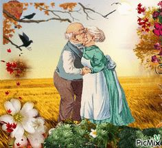 Skonsultuj PicMix własność Klarisz o PicMix. Vieux Couples, Old Couples, Growing Old Together, Old Folks, Beautiful Gif, Beautiful Pictures, Animation, Gif Animé, Pretty Art