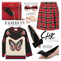 """New day"" by gabrilungu ❤ liked on Polyvore featuring Marc by Marc Jacobs, Gucci, Prada, Love Moschino and Marc Jacobs"