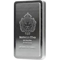 Ten  ounce Scottsdale osilver bar 99.9% silver silver bullion , 99.9% pure silver, silver bars, silver rounds