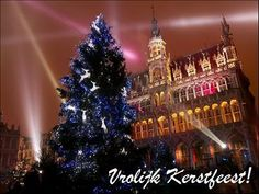 Christmas Around The World...BELGIUM! ♥    Photo: A Christmas tree is illuminated at the Grand Place in central BrusselsOn Christmas Eve ('Kerstavond' in Flemish and 'le réveillion de Noël' in Walloon), a special meal is eaten by most families. It starts with a drink (apéritif) and 'nibbles', followed by a 'starter' course such as sea-food, and then stuffed turkey. The dessert is 'Kerststronk' or 'la bûche de Noël' a chocolate Christmas Log made of sponge roll layered with cream.