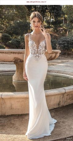 Alert Sexy Backless Tulle Long Beach Wedding Dresses 2017 V Neck Tank Straps Beaded Crystals Informal Reception Bridal Gowns Simple 2019 Latest Style Online Sale 50% Wedding Dresses