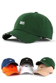 84987140add DEFI Sandwich Bill Baseball Caps 100% cotton Hats Unisex Mens Womens  Accessories