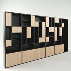 models: Wardrobe & Display cabinets - The case is wide 6 section Home Office Shelves, Living Room Shelves, Corner Shelves, Wall Shelves, Shelving Design, Bookshelf Design, Home Library Design, Office Interior Design, Corporate Interiors