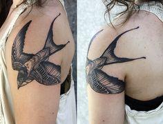 David Hale Tattoo | Swallow #tattoo #swallow