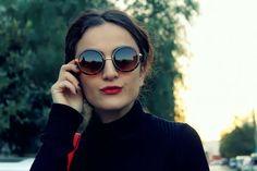 F CosmoS: WOMENS SUNGLASSES DESIGNER INSPIRED ROUND FRAMES 8907