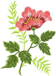Retro Flower Machine Embroidery Design picture