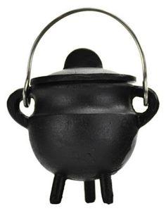 """Plain cast iron cauldron w/ lid 2 3/4"""" * * Click image for more details."""