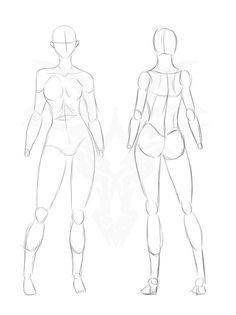 Reference Pose Sketch 2 by https://waywardwarriordesign.deviantart.com on @DeviantArt