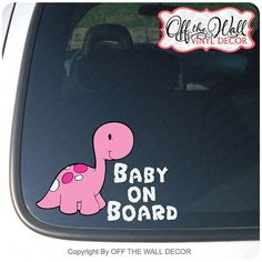 Hey, I found this really awesome Etsy listing at https://www.etsy.com/uk/listing/175903586/baby-long-neck-dinosaur-baby-on-board