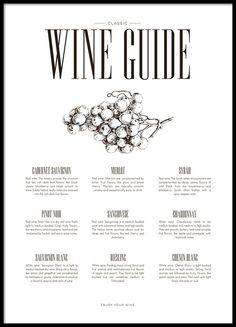 Fin plakat med wine guide