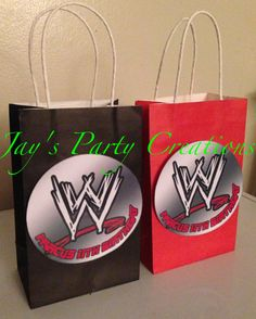 WWE Personalized Party Favor Goody Bags