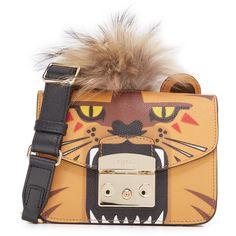 Furla Metropolis Jungle Mini Cross Body Bag ($398) ❤ liked on Polyvore featuring bags, handbags, shoulder bags, mini crossbody, flap shoulder bag, mini purse, mini crossbody handbags and crossbody shoulder bag