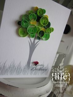 Paper quilling tree