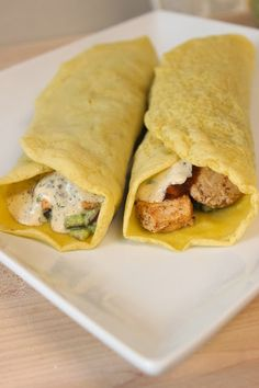A recipe for a super easy #paleo tortilla/wrap with a recipe for fish tacos!! #glutenfree #paleo