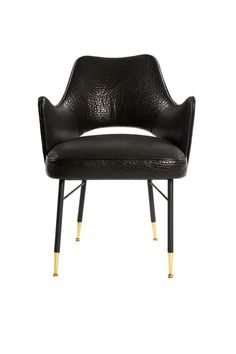 Black Chair with Gold Legs