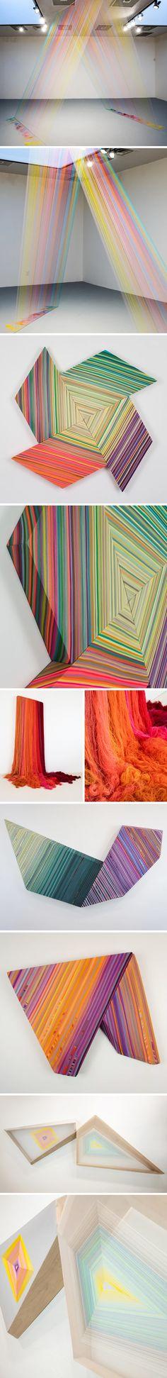 The Jealous Curator /// curated contemporary art /// jen pack Textile Sculpture, Textile Art, Book Of Kells, Textiles, Wow Art, Modern Artists, Installation Art, Art Installations, Beautiful Architecture