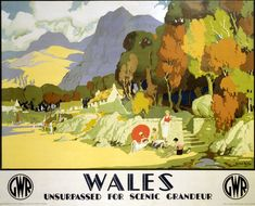 Reilly, Michael -- 'Wales - Unsurpased for Scenic Grandeur', GWR poster, c 1930s. -- High quality art prints, canvases, postcards -- memoryprints.com