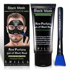 Mens Blackhead Remover, Pore Control, Skin Cleansing, Peel Off Facial Black Mask #SHILLS #PeelOffMaskTips #CharcoalMaskBenefits
