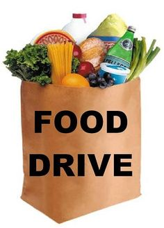 Start a food drive and donate to a food pantry. Especially helpful during the holiday season. Food Drive Flyer, A Food, Food And Drink, Food Bank, Canned Food Drive, Little Free Pantry, Soup Recipes, Snack Recipes, Food Shelf