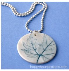 Made a few of these as gifts! Nature inspired polymer clay pendant by Happy Hour Projects