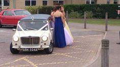 1963 stretched Mini limousine wedding car Ivory Paint, Wedding Car, Antique Cars, Navy, Mini, Blue, Vintage Cars