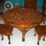 Set+Meja+Osin+Ukir+Jepara Vanity Bench, Table, Furniture, Home Decor, Ideas, Colors, Homemade Home Decor, Mesas, Home Furnishings