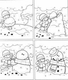 Logische volgorde voor kleuters, thema winter (link niet aanwezig!):