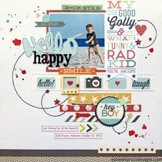 Scrapbook Layouts | Scrapbooking Ideas | 12X12 Layout | Creative Scrapbooker Magazine #scrapbooking #12X12layout #summer