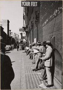 New York: 44th Street zwischen 6th u. 7th Avenue; Paul Wolff - about 1930 - 1935