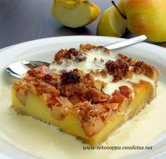 Vaniljainen omena-murupiirakka
