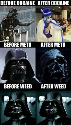 Don't do drugs, we'll except weed, go ahead and do that.  #drugs #starwars #cocaine #meth #420