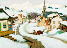 EuroGraphics Laurentian Village by Laurance Gagnon 1000-Piece Puzzle. This beautiful winter scene provides a fun way to celebrate the holidays! Canadian artist Clarence Gagnon shows a traditional Canadian Christmas in this beautiful painting.
