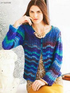 09 – Lace Cardigan | Knitting Fever Yarns & Euro Yarns