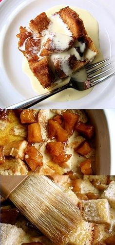 Caramelized Apple Bread Pudding - bread pudding can be SO good!!