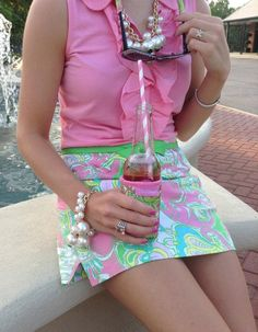preppy / pretty / ruffles  / pink / lilly pulitzer