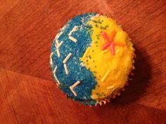 cute cupcake for a beach theme party