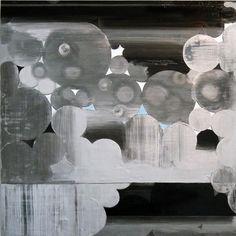 Lisa Beck. Valley, 2012; enamel on glass mirror