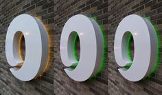 The Green I Signs Blog: Illuminated built up letter O for DeepOcean Aberde...