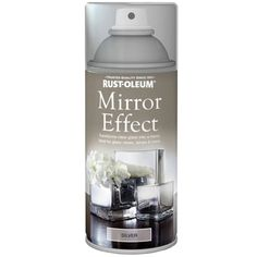 Rust-Oleum Mirror Effect Spray Paint Silver Gloss Finish - 150ml