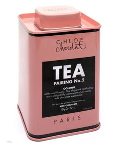 Tea Chloe Chocolat  Pink and tea can't get any better than that IMPDO.