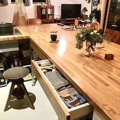 Japanese Kitchen, Home Kitchens, Conference Room, Table, House, Furniture, Home Decor, Japanese Cuisine, Decoration Home
