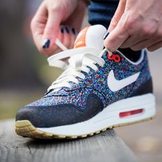 Nike Air MAX 1 ND Liberty Sneakers.http://jumpmankicks.com/2013/04/25/nike-x-liberty-of-london-womens-air-max-1-nd-hyperblue-steel-total-crimson/