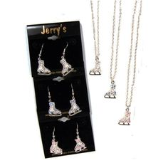 Figure Skate Jewelry | Crystal Earrings and Necklace Pack | Jerry's | www.discountskatewear.com