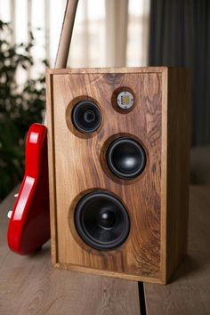 Wooden Speakers, Horn Speakers, Diy Speakers, Built In Speakers, Stereo Speakers, Diy Amplifier, Audiophile Speakers, Hifi Audio, Record Player Table